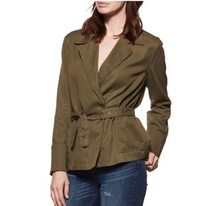 PAIGE Matilde Belted Jacket Spring Moss S